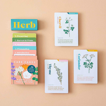 Herb Care Cards open 03 by Another Studio at Of Cabbages & Kings