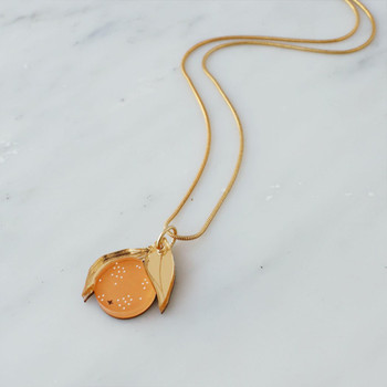 Mini Orange Necklace 01 by Wolf and Moon at Of Cabbages and Kings