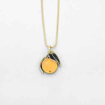 Mini Orange Necklace by Wolf and Moon at Of Cabbages and Kings