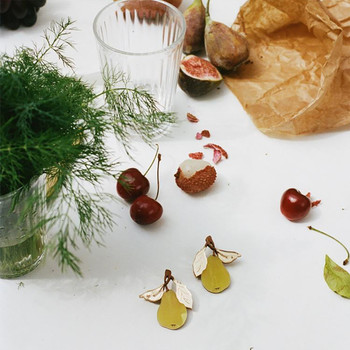 Pear Earrings lifestyle 01  by Wolf and Moon at Of Cabbages and Kings