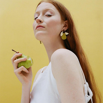 Pear Earrings model 02 by Wolf and Moon at Of Cabbages and Kings