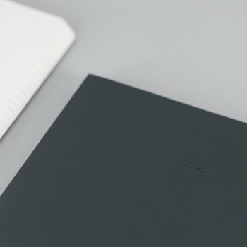 Recycled Leather Lined A5 Notebook - Charcoal Grey 01 by VENT at Of Cabbages and Kings