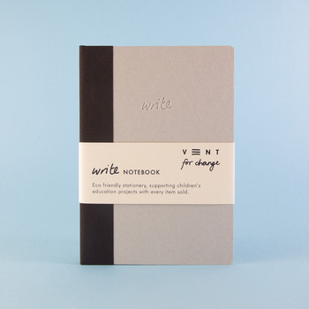 Sustainable Lined A5 Notebook - Black 03 by VENT at Of Cabbages and Kings