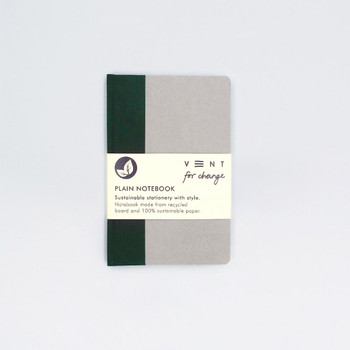 Sustainable Plain A6 Notebook - Green by VENT at Of Cabbages and Kings