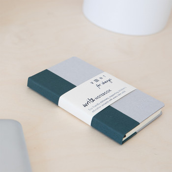 Sustainable Plain A6 Notebook - Green 01 by VENT at Of Cabbages and Kings