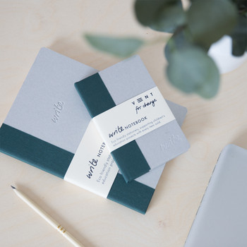 Sustainable Plain A6 Notebook - Green 02 by VENT at Of Cabbages and Kings