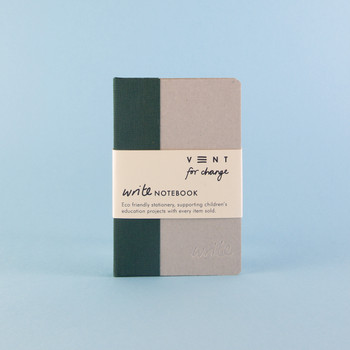Sustainable Plain A6 Notebook - Green 03 by VENT at Of Cabbages and Kings
