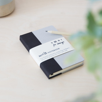 Sustainable Lined A6 Notebook - Black 01 by VENT at Of Cabbages and Kings