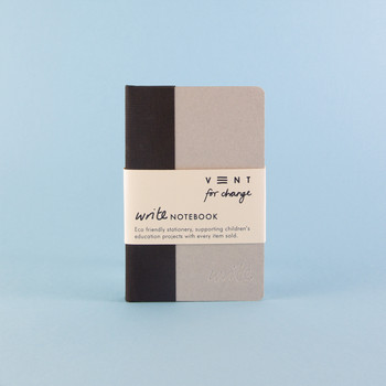 Sustainable Lined A6 Notebook - Black 04 by VENT at Of Cabbages and Kings