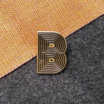 Labyrinth Letter Pin - B 02 by Seven Green Moons at Of Cabbages and Kings