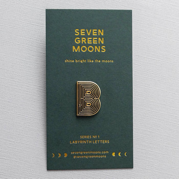 Labyrinth Letter Pin - B 03 by Seven Green Moons at Of Cabbages and Kings