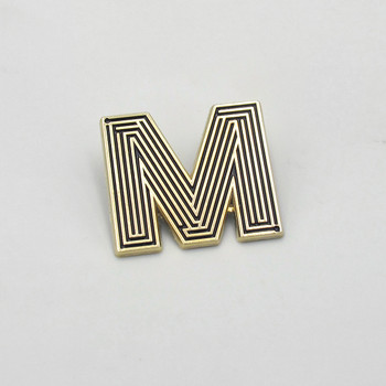 Labyrinth Letter Pin - M by Seven Green Moons at Of Cabbages and Kings