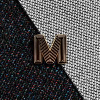 Labyrinth Letter Pin - M 05 by Seven Green Moons at Of Cabbages and Kings