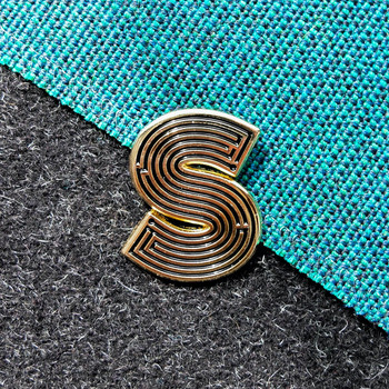 Labyrinth Letter Pin - S 02 by Seven Green Moons at Of Cabbages and Kings
