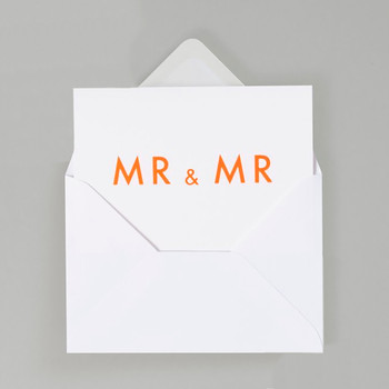 Mr & Mr Typographic Card by Ola at Of Cabbages and Kings