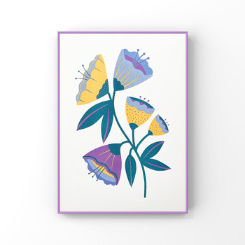 Abstract Flowers framed 01 by Melissa Donne Studio at Of Cabbages and Kings
