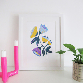 Abstract Flowers framed 02 by Melissa Donne Studio at Of Cabbages and Kings