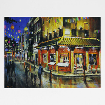 Chinatown at Night art print by Marc Gooderham available at Of Cabbages and Kings.
