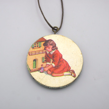 Aviary Wooden Necklace back at of Cabbages and Kings