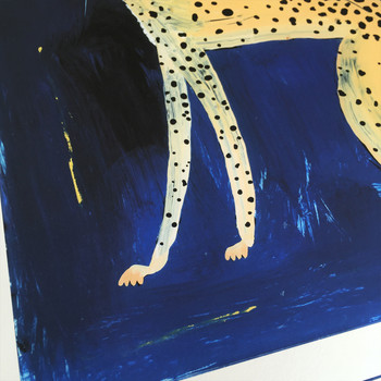 Love Itch art print cheetah detail 03 by Adam Bartlett at Of Cabbages and Kings