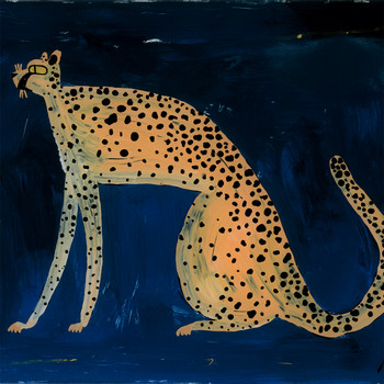 Love Itch art print cheetah detail 04 by Adam Bartlett at Of Cabbages and Kings