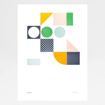 Playground 2 Letterpress Print by Tom Pigeon at Of Cabbages and Kings