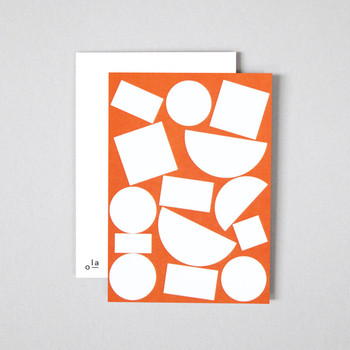 Pack of 8 Postcards - Blocks Print detail 02 by Ola at Of Cabbages and Kings