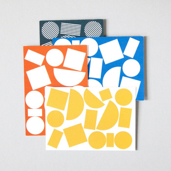 Pack of 8 Postcards - Blocks Print by Ola at Of Cabbages and Kings