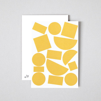 Pack of 8 Postcards - Blocks Print detail 03 by Ola at Of Cabbages and Kings