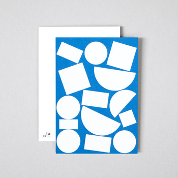 Pack of 8 Postcards - Blocks Print detail 04 by Ola at Of Cabbages and Kings