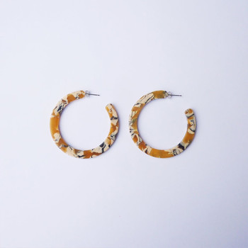 Saffron Hoop Earrings detail 02 by Custom Made at Of Cabbages and Kings