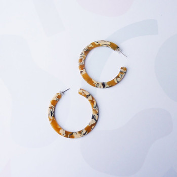 Saffron Hoop Earrings detail 03 by Custom Made at Of Cabbages and Kings
