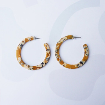 Saffron Hoop Earrings detail 05 by Custom Made at Of Cabbages and Kings