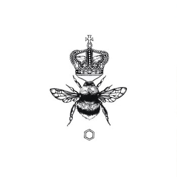 Queen Bee art print detail 01 by Emily Carter at Of Cabbages and Kings.