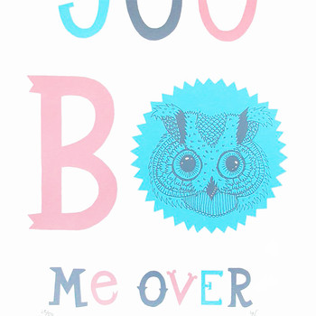 You Bowl Me Over screen print by Hazel Nicholls at Of Cabbages and Kings