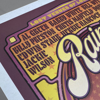Rainbow Soul poster print detail 04 by Fiftyseven for 45 Original at Of Cabbages and Kings