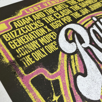 Rainbow Punk poster print detail 02 by Fiftyseven for 45 Original at Of Cabbages and Kings