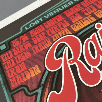 Rainbow Rock poster print detail 01 by Fiftyseven for 45 Original at Of Cabbages and Kings