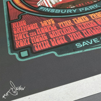 Rainbow Rock poster print detail 04 by Fiftyseven for 45 Original at Of Cabbages and Kings