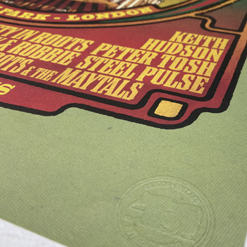 Rainbow Reggae poster print detail 03 by Fiftyseven for 45 Original at Of Cabbages and Kings