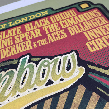 Rainbow Reggae poster print detail 01 by Fiftyseven for 45 Original at Of Cabbages and Kings