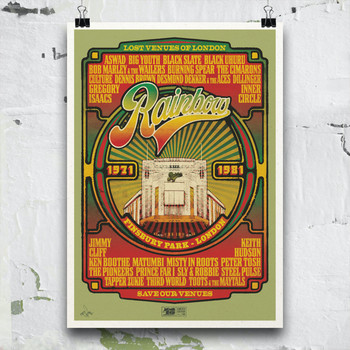 Rainbow Reggae poster print detail 06 by Fiftyseven for 45 Original at Of Cabbages and Kings