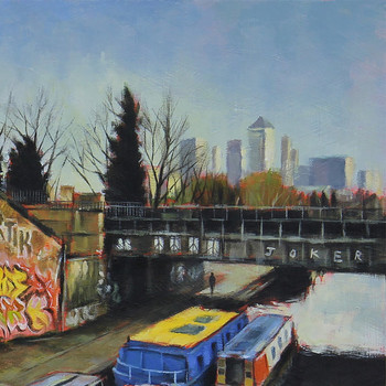 On The Canal art print detail 02 by Marc Gooderham available at Of Cabbages and Kings.