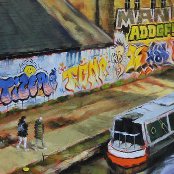 On The Canal art print detail 03 by Marc Gooderham available at Of Cabbages and Kings.