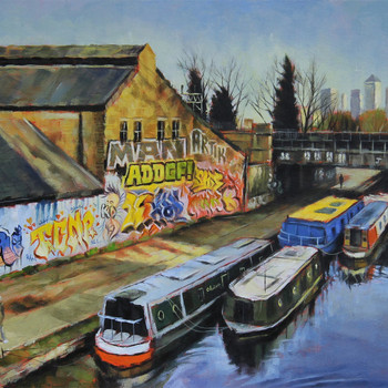 On The Canal art print detail 01 by Marc Gooderham available at Of Cabbages and Kings.