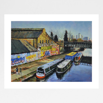 On The Canal art print full print by Marc Gooderham available at Of Cabbages and Kings.