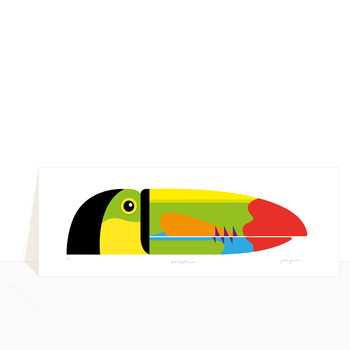 Keel-Billed Toucan Art Print detail 02 by Julio Guerra at Of Cabbages and Kings
