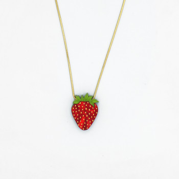 Strawberry Necklace by Wolf and Moon at Of Cabbages and Kings
