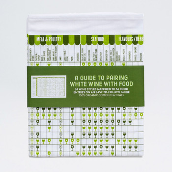 A Guide To Pairing White Wine and Food Tea Towel by Stuart Gardiner available at Of Cabbages and Kings
