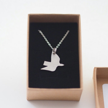 Ella's Dove Necklace - Steel detail 01 by Pivot at Of Cabbages and Kings